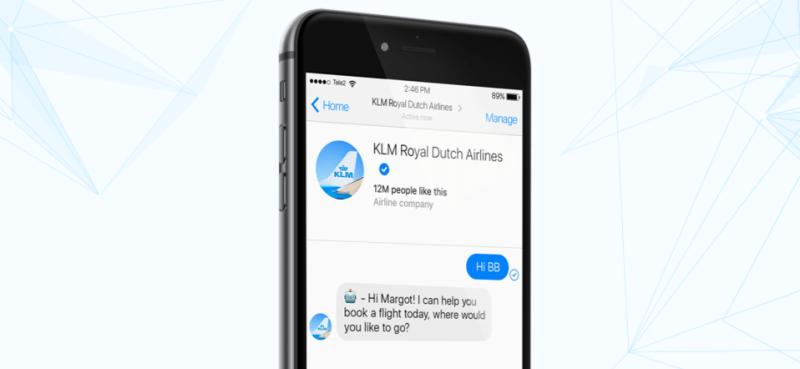 KLM anuncia servicio de asistencia de voz en Messenger disponible ya en México - klm-bluebot-800x369