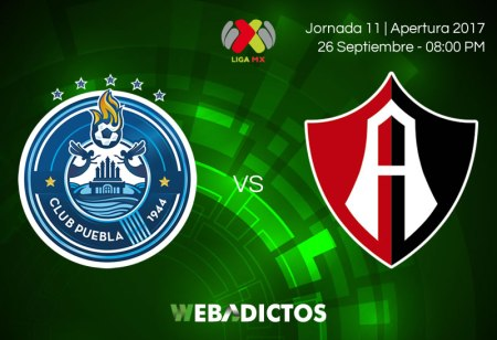 Puebla vs Atlas, Jornada 11 A2017 ¡En vivo por internet!