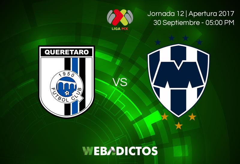 Querétaro vs Monterrey, J12 de la Liga MX A2017   Resultado: 2-2 - queretaro-vs-monterrey-j12-apertura-2017-800x547