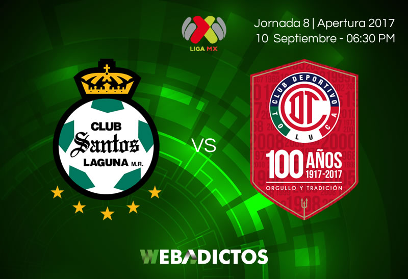 Santos vs Toluca, Jornada 8 Apertura 2017 | Resultado: 0-0 - santos-vs-toluca-j8-apertura-2017