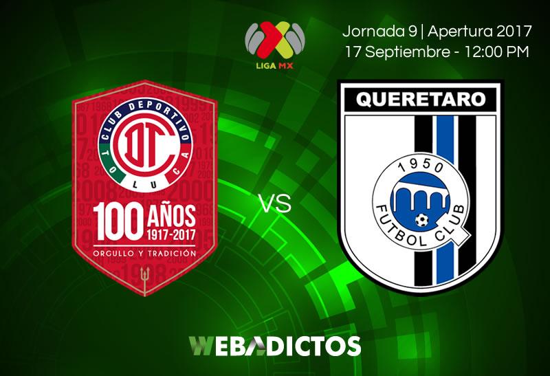 Toluca vs Querétaro, J9 de Liga MX Apertura 2017 | Resultado: 3-2 - toluca-vs-queretaro-j9-apertura-2017