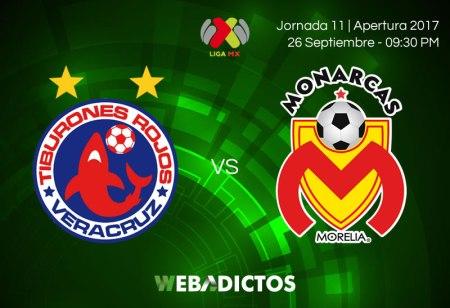 Veracruz vs Morelia, Jornada 11 Liga MX A2017 ¡En vivo por internet!
