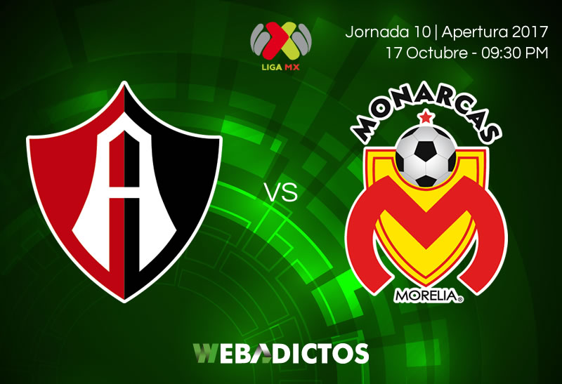 Atlas vs Morelia, Jornada 10 del Apertura 2017 | Resultado: 0-1 - atlas-vs-morelia-j10-apertura-2017-800x547
