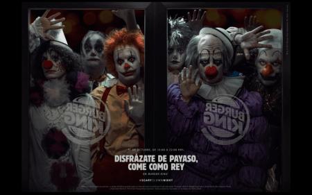 Burger King te invita a disfrazarte como payaso en Halloween