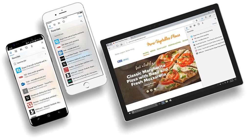 Microsoft Edge llega a smartphones Android y iOS en forma de beta - edge-hub