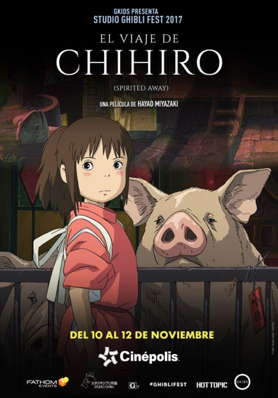 Cinépolis presentará colección de películas animadas más famosas del mundo - el-viaje-de-chihiro-560x800