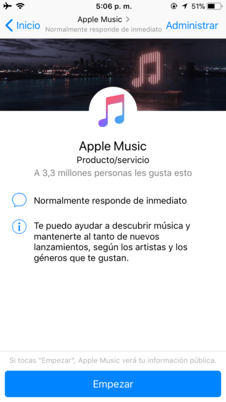 Apple Music ahora disponible dentro de Facebook Messenger - img_0720
