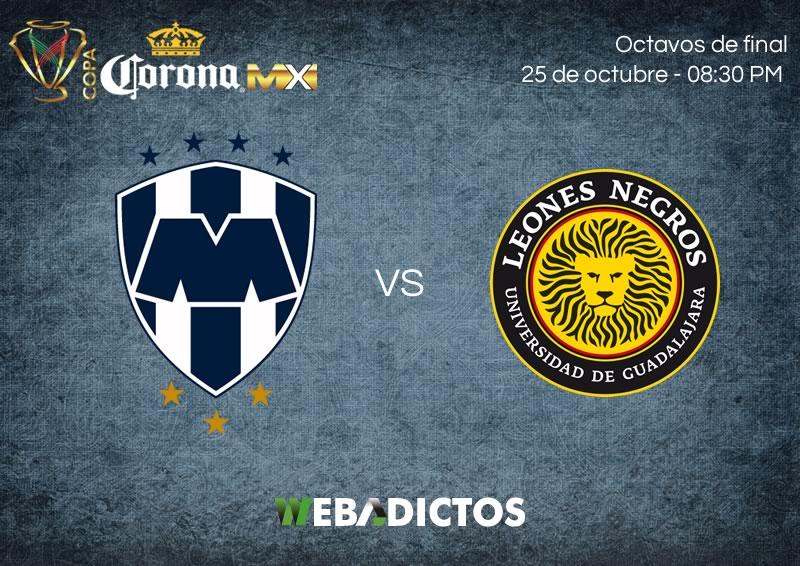 Monterrey vs Leones Negros UDG, Copa MX A2017 | Resultado: 2 (4)-(3) 2 - monterrey-vs-leones-negros-udg-25-octubre-copa-mx-apertura-2017-800x566