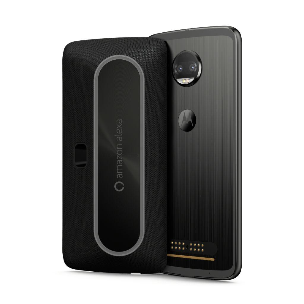 Motorola presenta un Moto Mod que incluye Amazon Alexa - moto-mods_alexa_frontback_motoz2force