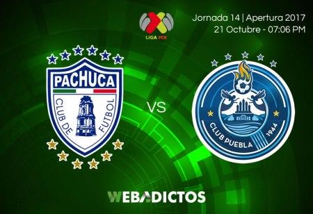Pachuca vs Puebla, Fecha 14 del Apertura 2017 ¡En vivo por internet!