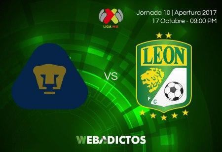 Pumas vs Léon, Jornada 10 Liga MX A2017 | Resultado: 2-0