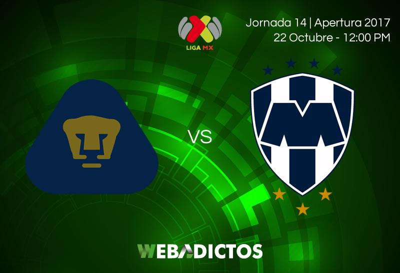 Pumas vs Monterrey, Jornada 14 Apertura 2017 | Resultado: 0-1 - pumas-vs-monterrey-jornada-14-apertura-2017-800x547