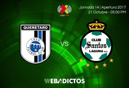 Querétaro vs Santos, Jornada 14 del Apertura 2017 ¡En vivo por internet!