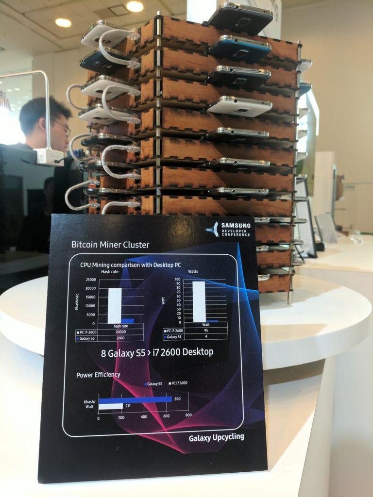 Samsung presenta la iniciativa Upcycling: dale a tu viejo smartphone una nueva vida y propósito - samsung-galaxy-s5-bitcoin-mining