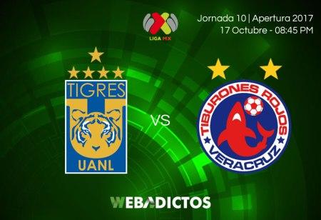 Tigres vs Veracruz, Jornada 10 Apertura 2017 ¡En vivo por internet!