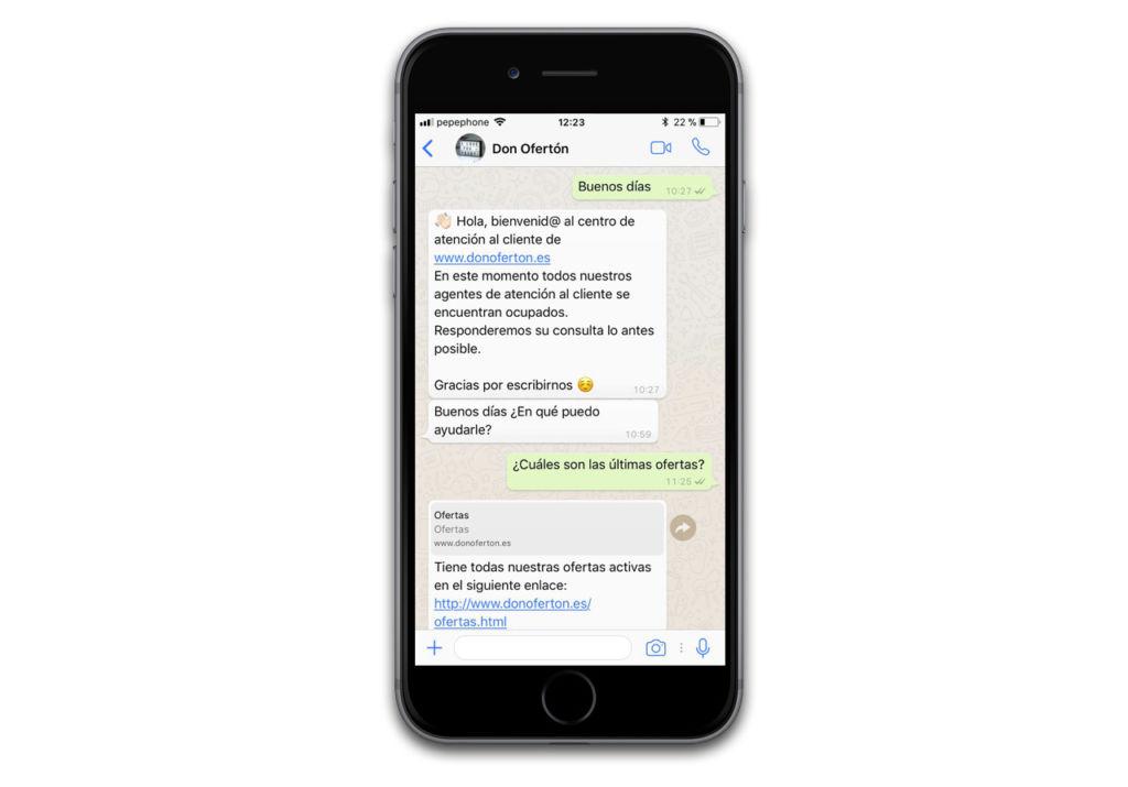 WhatsApp Business ya está en beta cerrada; así es como funciona - wa-biz-don-oferton-xataka