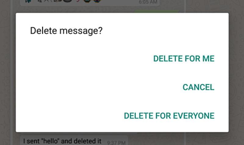 WhatsApp ya permite eliminar mensajes enviados, aunque se hayan leído - whatsapp-delete-message