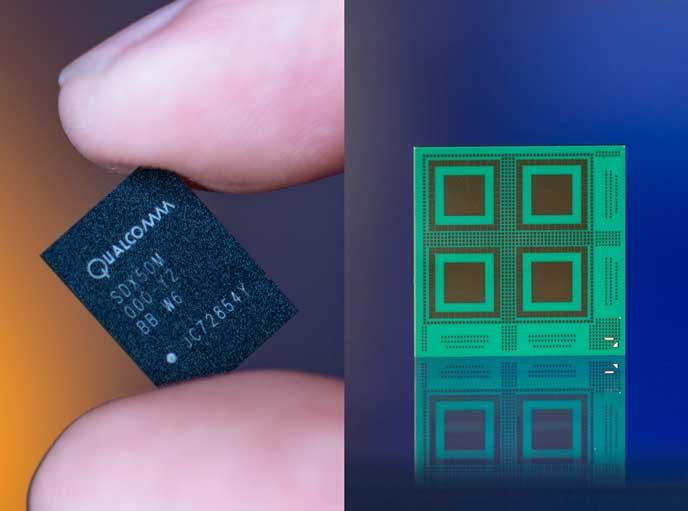 Qualcomm logra la primera conexión de datos 5G en un módem 5G Chipset para dispositivos móviles - x50-data-connection
