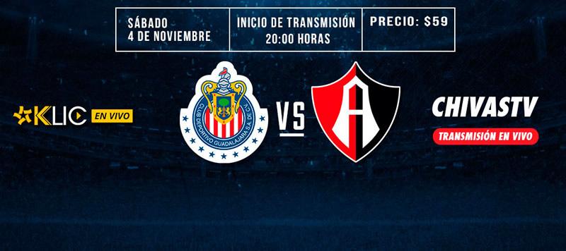 Chivas vs Atlas, Clásico Tapatío el 4 de noviembre | Resultado: 1-2 - chivas-vs-atlas-4-noviembre-2017-chivas-tv-800x356