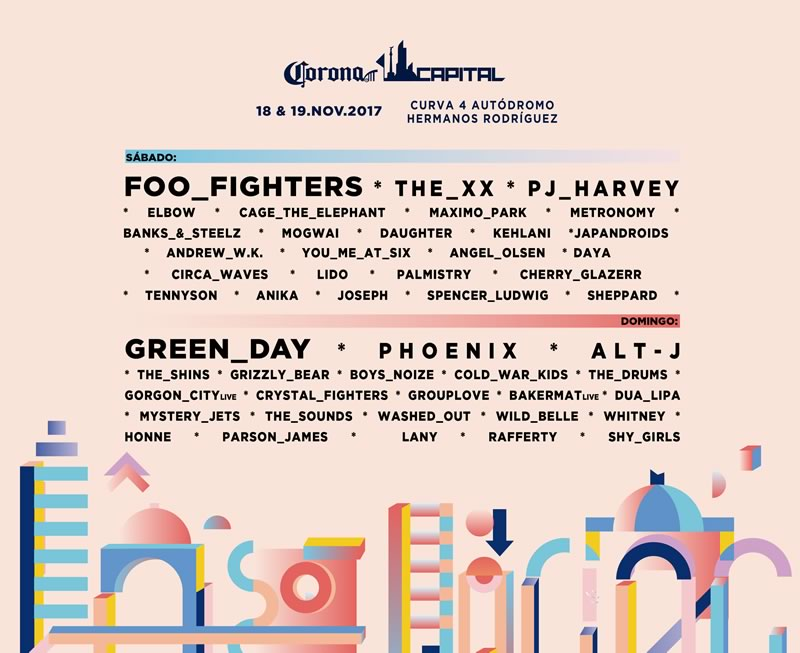 Corona Capital 2017, 18 y 19 de noviembre ¡En vivo por internet! - corona-capital-2017-streaming-800x653