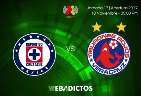 Cruz Azul vs Veracruz, Jornada 17 Apertura 2017 ¡En vivo por internet!