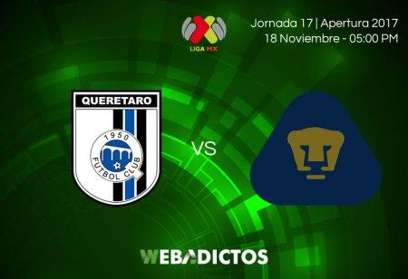 Querétaro vs Pumas, Jornada 17 AP2017 ¡En vivo por internet!
