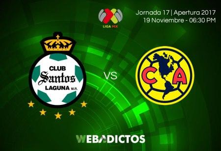 Santos vs América, J17 Apertura 2017 | Resultado: 0-1