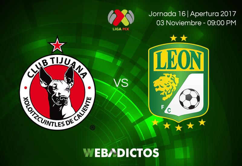 Tijuana vs León, Jornada 16 del Apertura 2017 | Resultado: 2-1 - tijuana-vs-leon-jornada-16-apertura-2017-800x547
