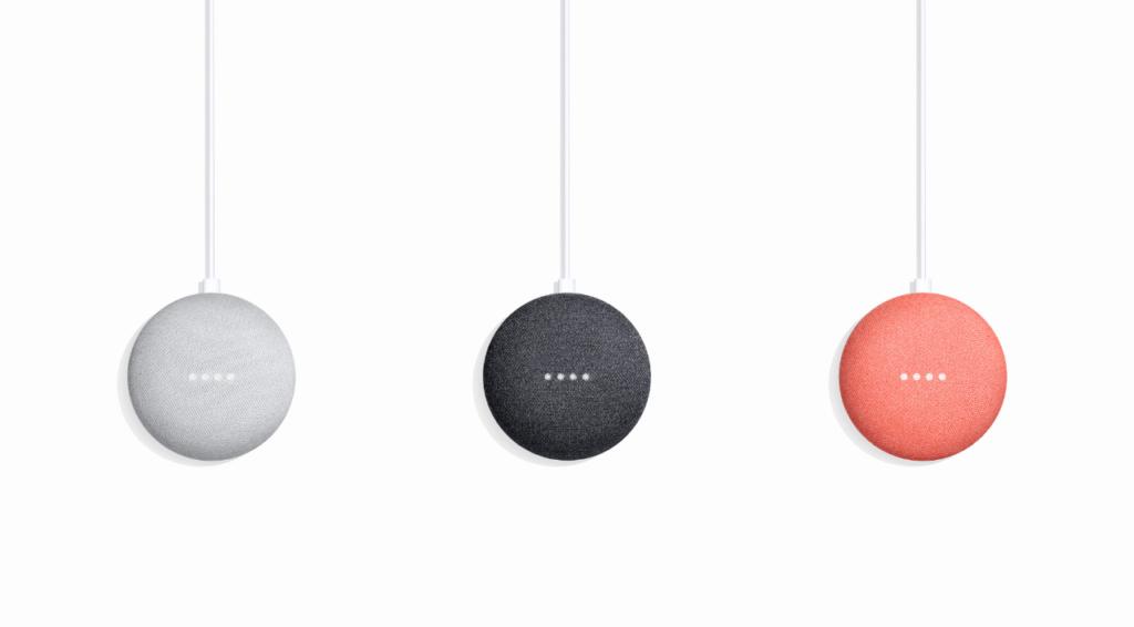 El Google Home Mini se reinicia al reproducir música a volumen máximo - google-home-mini-colors