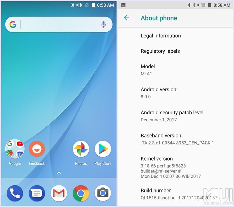 Xiaomi está reclutando a usuarios del Mi A1 para probar la actualización a Android Oreo 8.0 - xiaomi-mi-a1-oreo-beta