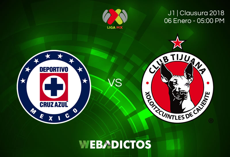 Cruz Azul vs Tijuana, Jornada 1 del Clausura 2018   Resultado: 0-0 - cruz-azul-vs-tijuana-jornada-1-clausura-2018-800x547
