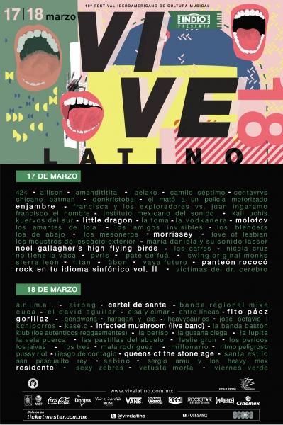 Festival Vive Latino 2018 ¡se reinventa! conoce todos los detalles del festival - decimonovena-edicion-festival-vive-latino