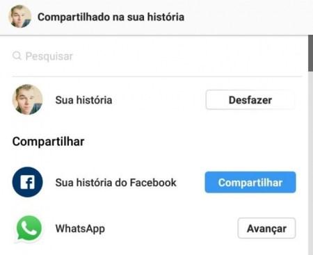 Instagram está probando la opción de publicar las historias en WhatsApp