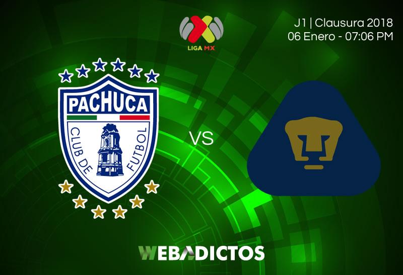 Pachuca vs Pumas, Jornada 1 Clausura 2018 | Resultado: 2-3 - pachuca-vs-pumas-jornada-1-clausura-2018-800x547