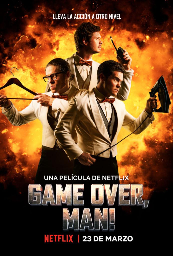 Netflix revela tráiler oficial y arte principal de la película: Game Over, Man! - poster-oficial-game-over-man