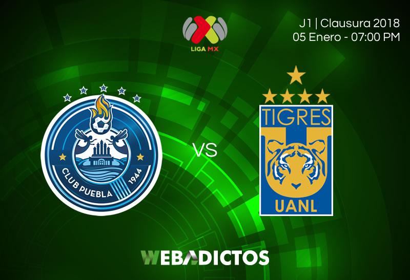 puebla vs tigres clausura 2018 j1 800x547 Puebla vs Tigres, Liga MX Clausura 2018 | Resultado: 2 1