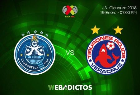 Puebla vs Veracruz, Jornada 3 Clausura 2018 ¡En vivo por internet!