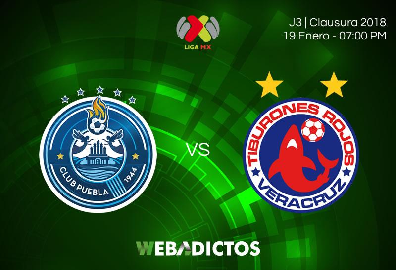 Puebla vs Veracruz, Jornada 3 Clausura 2018   Resultado: 2-0 - puebla-vs-veracruz-clausura-2018-j3-800x547