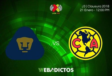 Pumas vs América, Jornada 3 Clausura 2018 | Resultado: 0-0