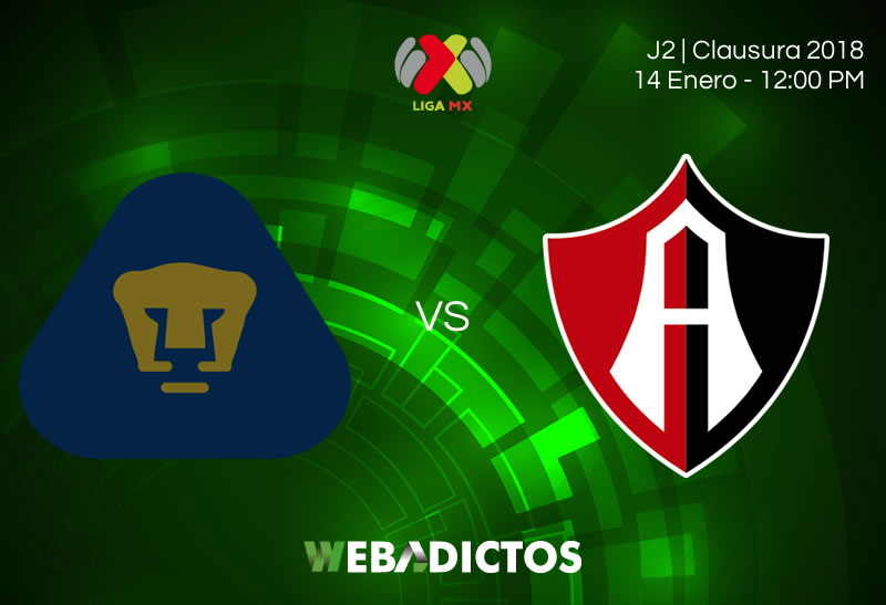 Pumas vs Atlas, Jornada 2 del Clausura 2018 | Resultado: 3-1 - pumas-vs-atlas-clausura-2018-j2-800x547