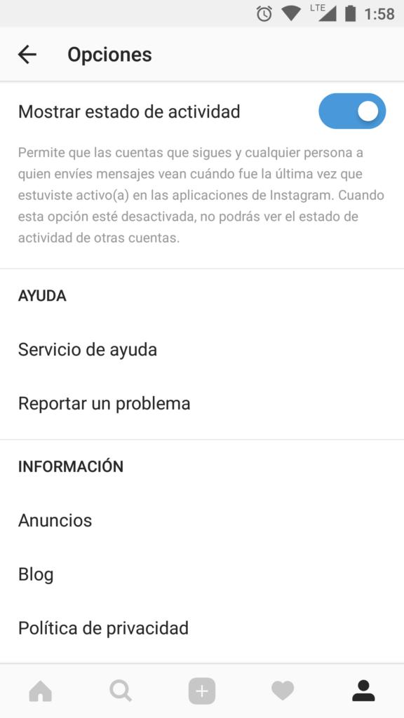 Instagram ahora mostrará tu última conexión (casi a lo WhatsApp) - screenshot_20180118-135846