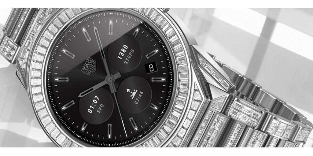 Este smartwatch TAG Heuer con Android Wear cuesta alrededor de 197,000 dólares - tag-heuer-connected-modular-45-full-diamonds