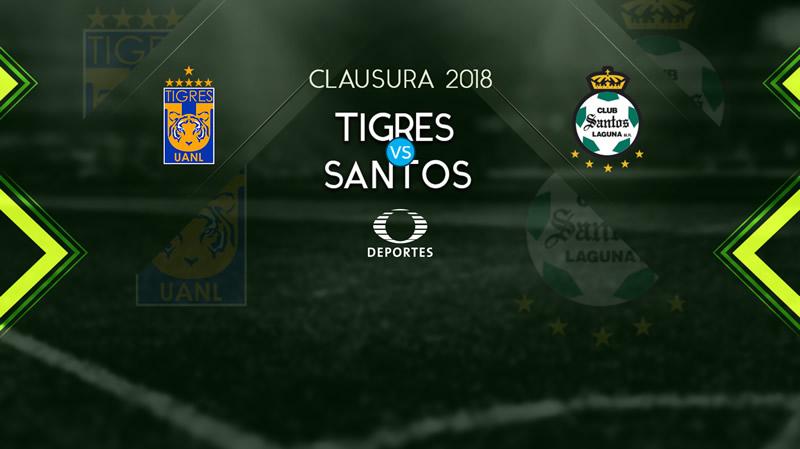 Tigres vs Santos, Fecha 2 del Clausura 2018 | Resultado: 2-1 - tigres-vs-santos-televisa-deportes-clausura-2018-800x449