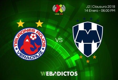 Veracruz vs Monterrey, Jornada 2 del Clausura 2018 | Resultado: 0-2