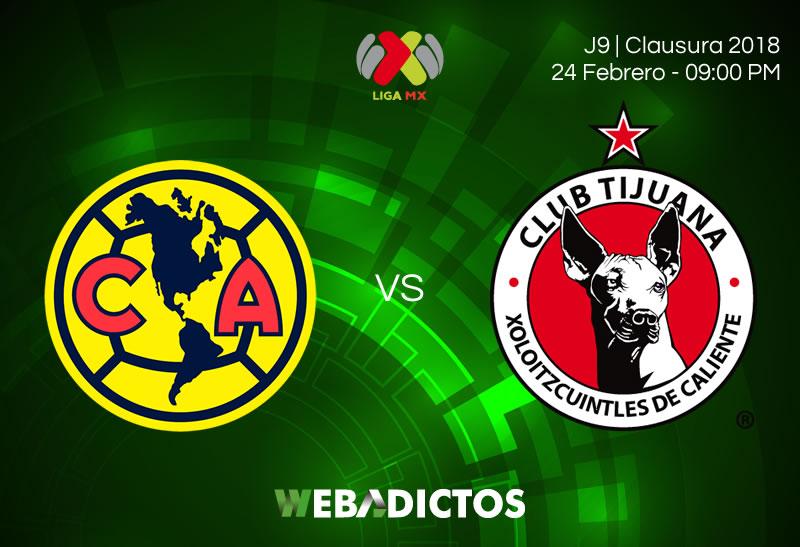 Transmisión de América vs Tijuana; Clausura 2018 ¡En vivo por internet! - america-vs-tijuana-clausura-2018-j9