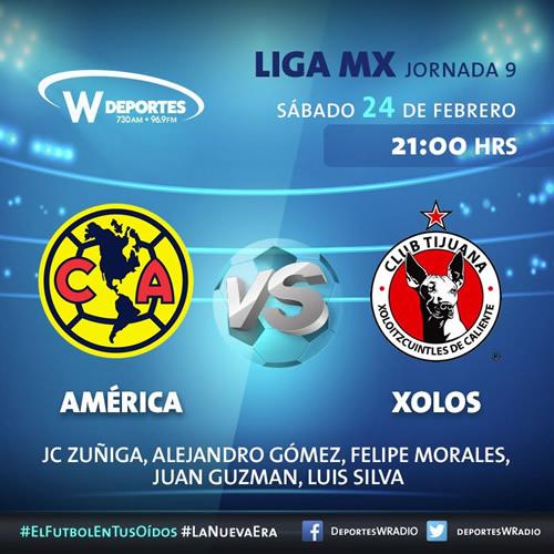 Transmisión de América vs Tijuana; Clausura 2018 ¡En vivo por internet! - america-vs-xolos-tijuana-por-radio-clausura-2018