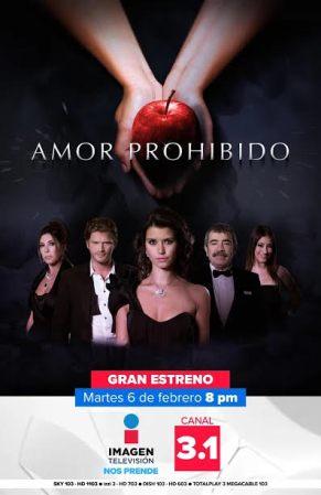 Imagen Televisión estrena nueva serie: Amor Prohibido