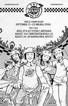 artwork por bob haro Vans BMX Pro Cup lanza calendario del Tour Mundial 2018