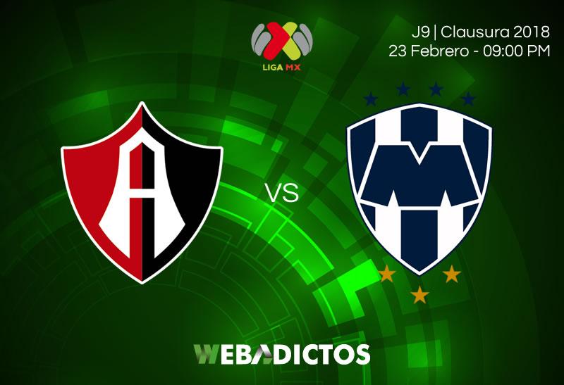 Transmisión de Atlas vs Monterrey el 23 de febrero ¡En vivo por internet! - atlas-vs-monterrey-clausura-2018-j9
