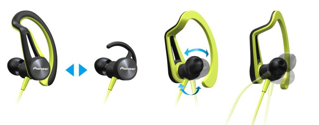 Audífonos deportivos Pioneer, diseño ergonómico y protección contra agua